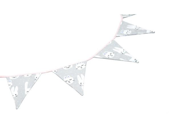 Kołderka 50 x 75 cm serduszka na szarym|mięta