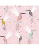 Poduszka 30 x 40 żyrafy na różowym| turkus