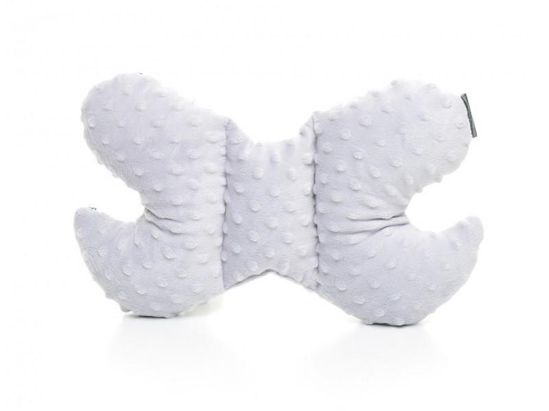Kołderka 75 x 100 cm + poduszka 30 x 40 cm sowy na białym|różowy