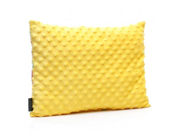 Kołderka 75 x 100 cm + poduszka 30 x 40 cm potworki szare|jasny zielony