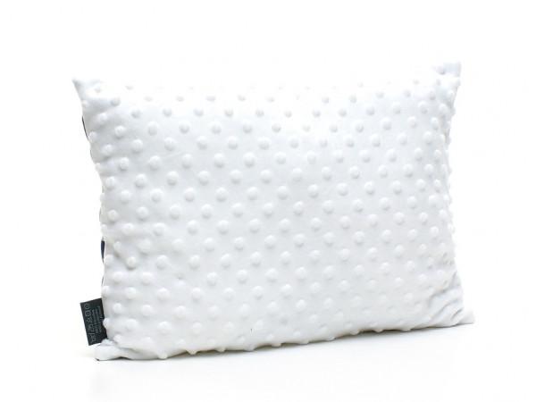 Kołderka 75 x 100 cm + poduszka 30 x 40 cm serduszka na szarym|różowy