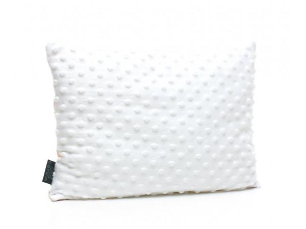 Kołderka 75 x 100 cm + poduszka 30 x 40 cm chmurki na szarym|biały