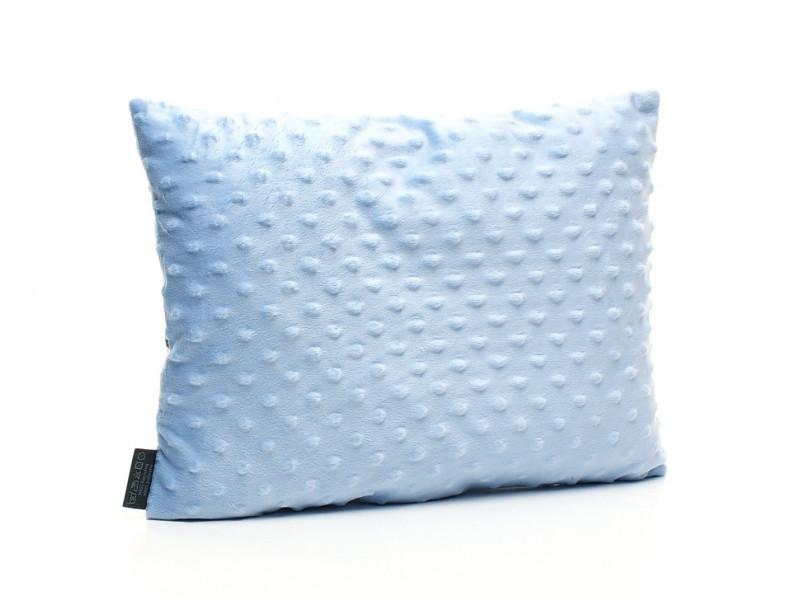 Kołderka 75 x 100 cm + poduszka 30 x 40 cm chmurki na granacie|biały