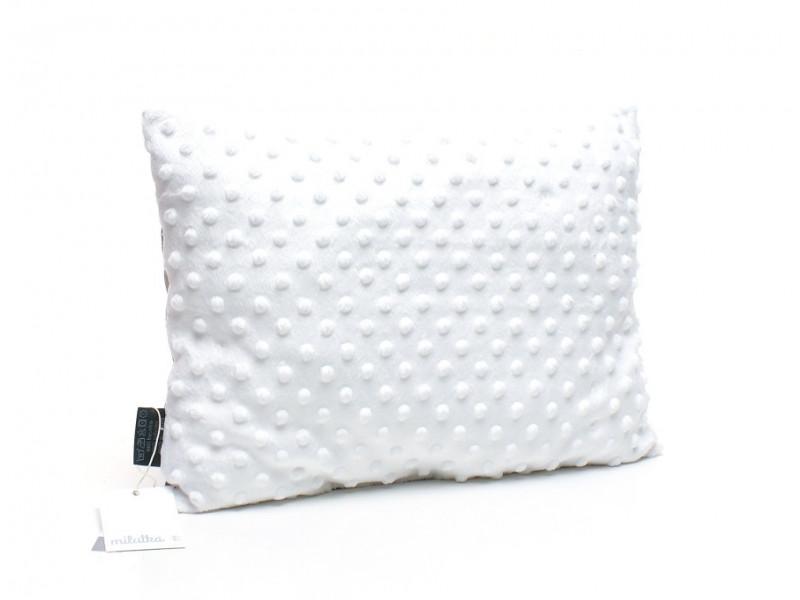 Kołderka 75 x 100 cm + poduszka 30 x 40 cm chmurki na granacie|amarant