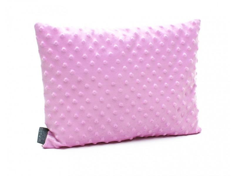 Kołderka 75 x 100 cm + poduszka 30 x 40 cm kolorowe serduszka|amarant