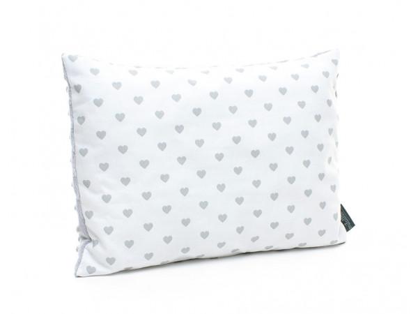 Kołderka 75 x 100 cm + poduszka 30 x 40 cm kolorowe serduszka|różowy