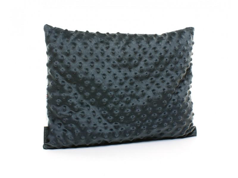 Kołderka 100 x 135 cm + poduszka 40 x 60 cm kropki czarne|różowy