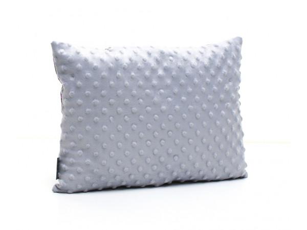 Kołderka 100 x 135 cm + poduszka 40 x 60 cm kotwice na szarym|błękitny