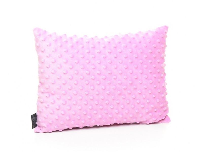 Kołderka 100 x 135 cm + poduszka 40 x 60 cm kolorowe serduszka|amarant