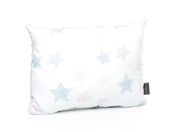 Kołderka 100 x 135 cm + poduszka 40 x 60 cm kolorowe serduszka|różowy