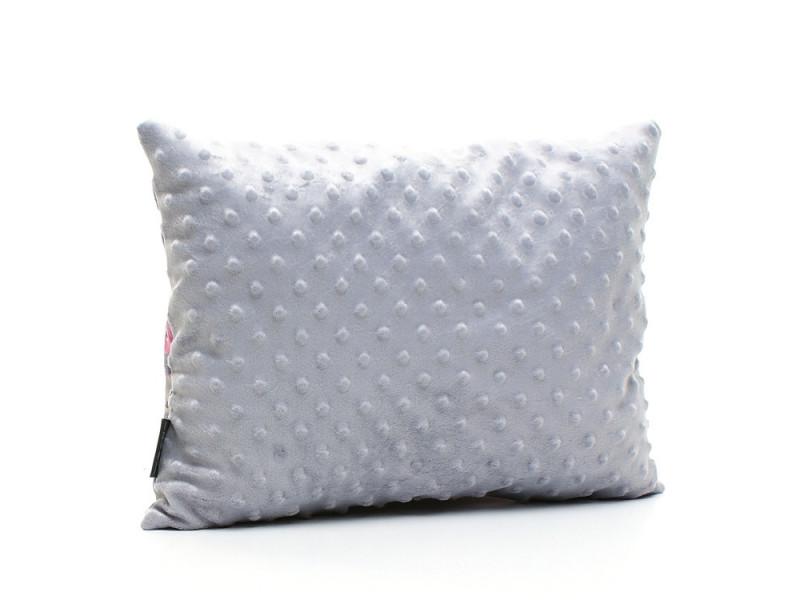 Kołderka 50 x 75 cm + poduszka 30 x 40 cm potworki szare|turkus