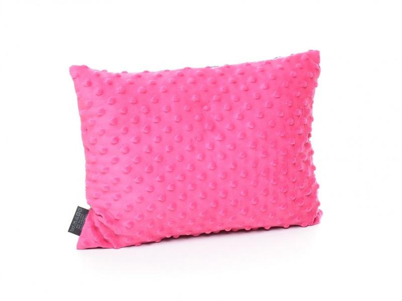 Kołderka 50 x 75 cm + poduszka 30 x 40 cm serduszka różowe|mięta