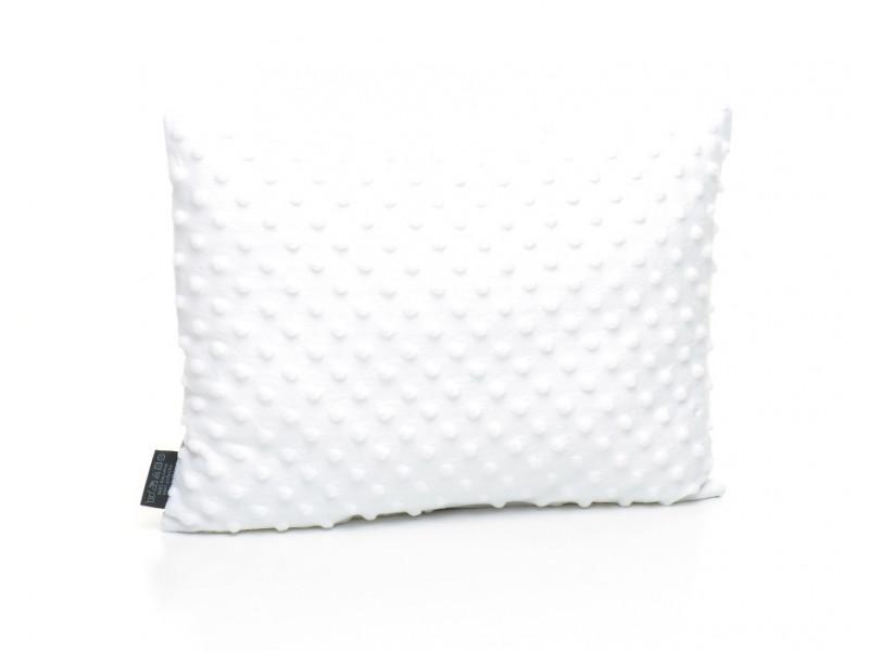 Kołderka 50 x 75 cm + poduszka 30 x 40 cm serduszka na białym|różowy
