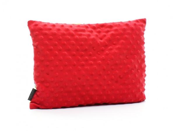 Kołderka 50 x 75 cm + poduszka 30 x 40 cm czarne kropki|rózowy
