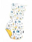 Milutka Poduszka 30 x 40 gwiazdki na granatowym| żółty