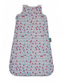 Kołderka 100 x 135 cm pastelowe piórka|mięta