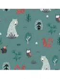 milutka Poduszka 30 x 40 sowy w lesie| turkus