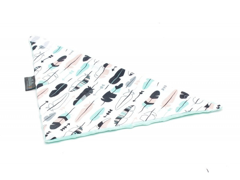 chustka pastelowe piórka| mięta