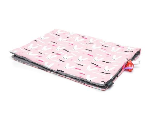 Ochraniacz kolorowe serduszka| różowy